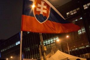 Zhromaždenie na námestí SNP v Bratislave 17. novembra 2016.