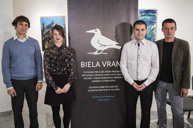 Ocenení Pavol Szalai, Zuzana Hlávková, Štefan Straka a Erik Baláž.