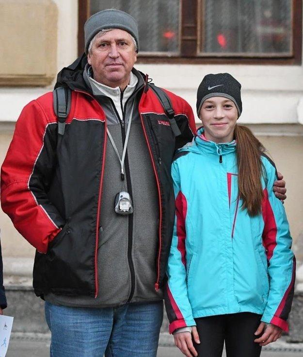 Hana Záhradníčková s trénerom Jánom Tóthom.