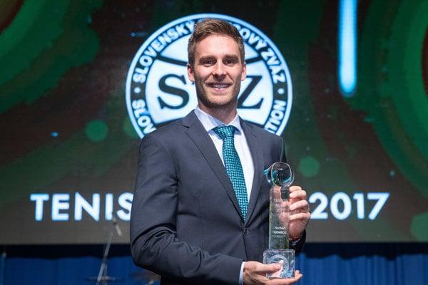 Laureátom ocenenia Tenista roka v SR sa stal premiérovo Norbert Gombos.