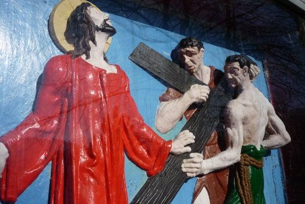 Snímka z kalvárie v Oščadnici.