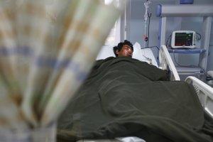Zranený v nemocnici.