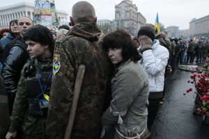 Provládne stretnutie na Námestí nezávislosti v Kyjeve.