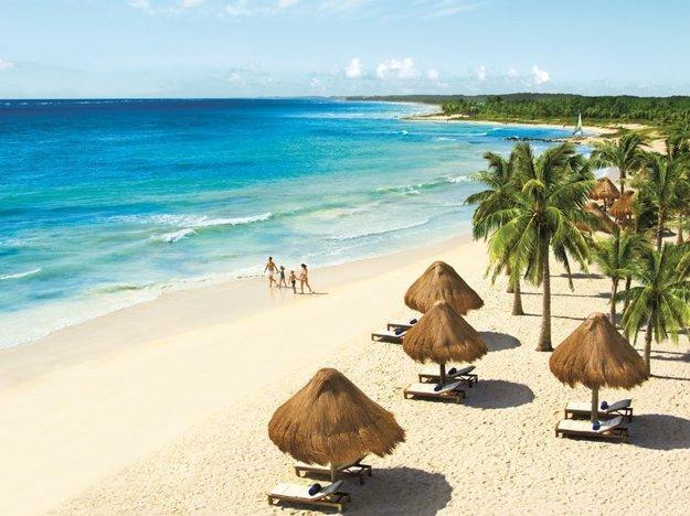 Pláž pri rezorte Dreams Tulum Resort & Spa