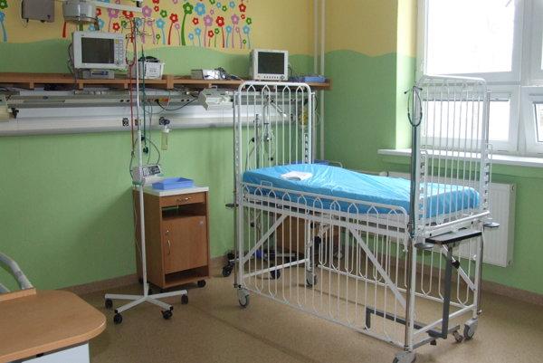 Detské oddelenie, jednotka intenzívnej starostlivosti.