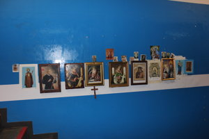 Sväté obrázky, pri ktorých sa veriaci Neapolčania kedysi modlili.