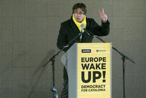 Carles Puigdemont sa prihovoril demonštrantom.