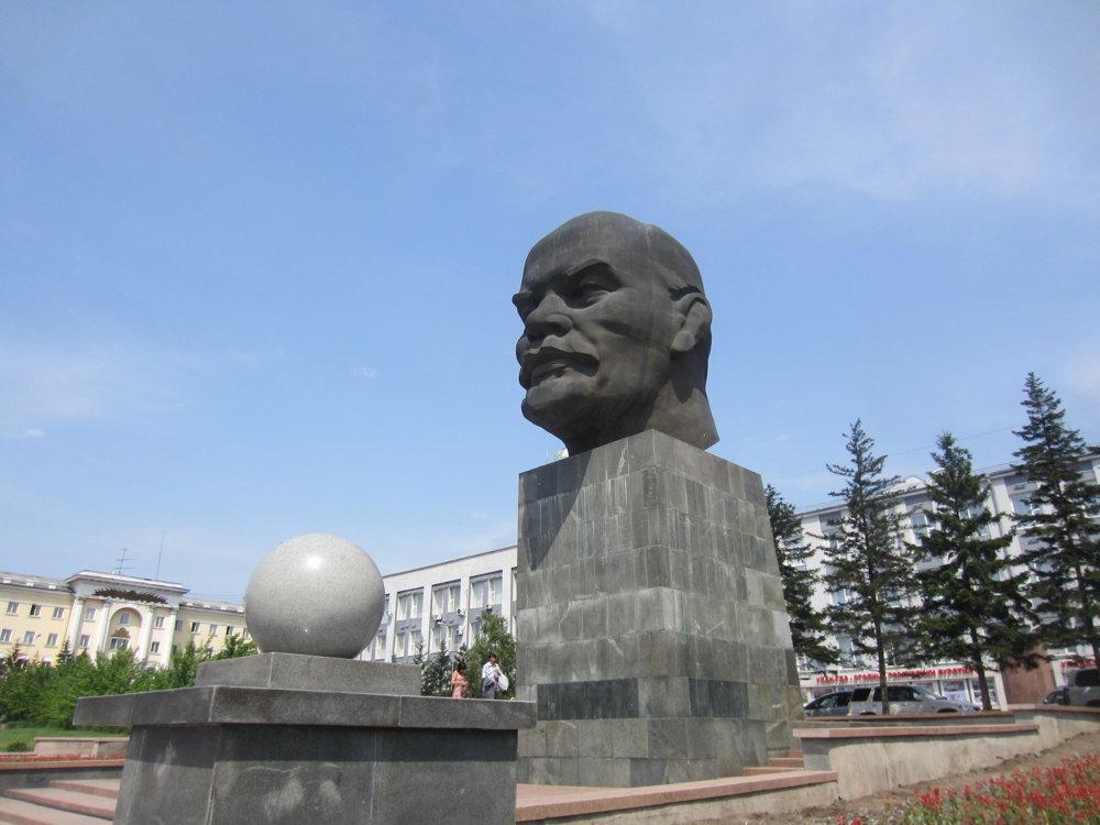 Leninova busta v meste Ulan-Ude
