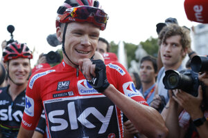 Chris Froome na Vuelte.