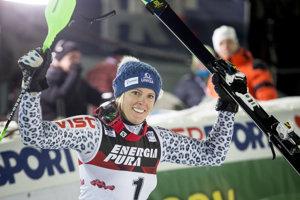 Veronika Velez-Zuzulová sa vlani v Záhrebe tešila z víťazstva v slalome Svetového pohára.