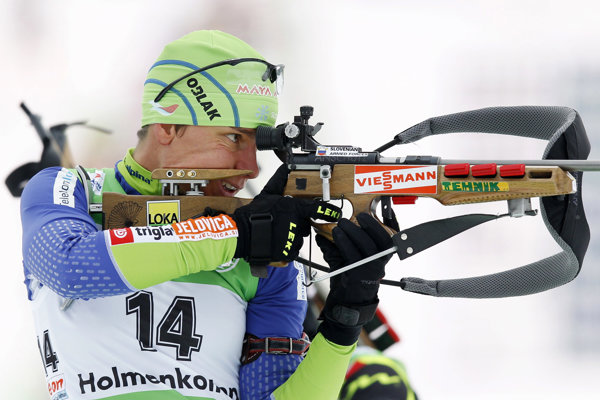Slovinská biatlonistka Teja Gregorinová, archívna snímka.