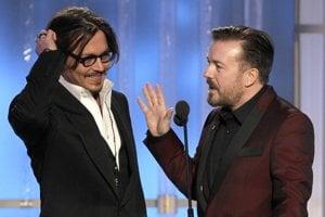 Dnes je všetko v 3D, len postava Johnnyho Deppa vo filme Tourist je dvojrozmerná, povedal na Zlatých glóbusoch Ricky Gervais.