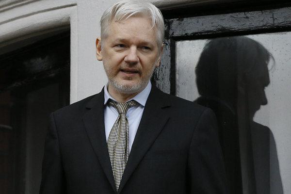 Zakladateľ WikiLeaks Julian Assange.