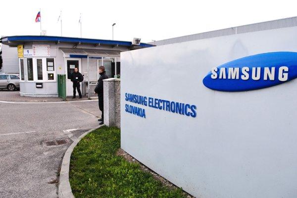 Vstupná brána závodu Samsung v Galante na snímke z roku 2010.