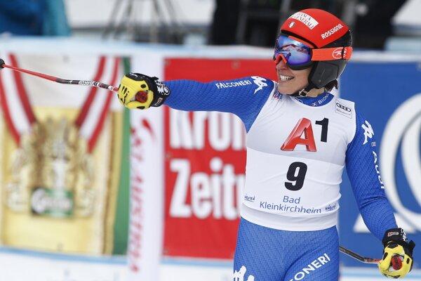 Federica Brignoneová zvíťazila v sobotňajšom super-G Svetového pohára v rakúskom Bad Kleinkirchheime.