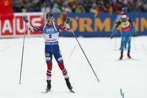Nórsky biatlonista Johannes Thingnes Bö triumfoval v šprinte.