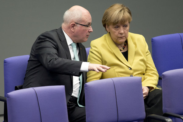 Volker Kauder s Angelou Merkelovou.