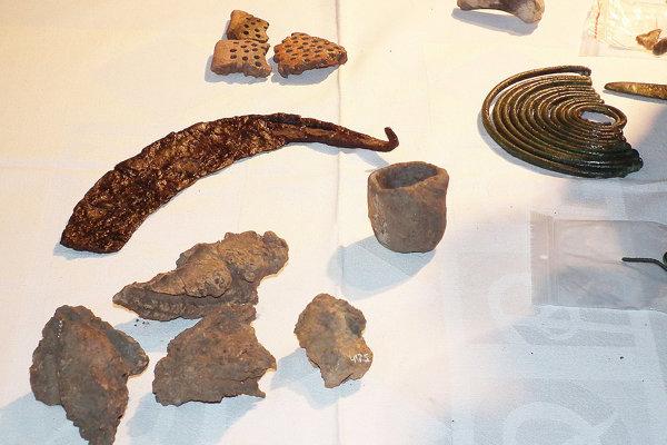 Časť archeologického nálezu na Orave.