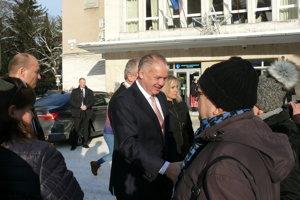 Prezident Andrej Kiska v Turčianskych Tepliciach.