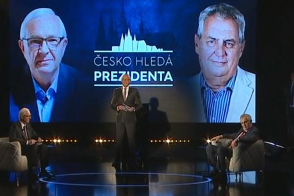 Miloš Zeman a Jiří Drahoš sa stretli v televíznej debate.
