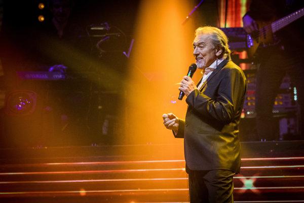 Karel Gott na koncerte v Bratislave v roku 2018.