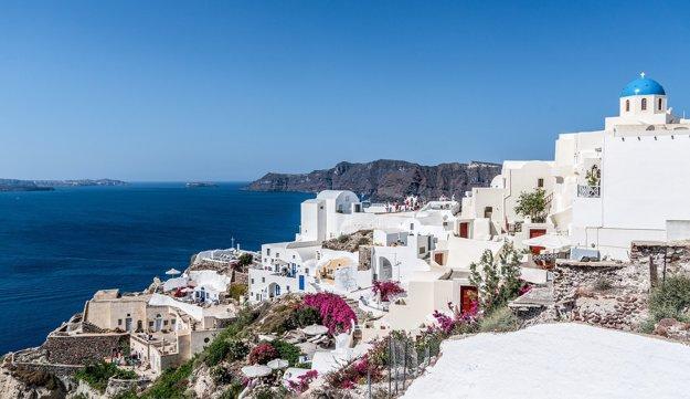 Výhľady z mesta Oia na ostrove Santorini