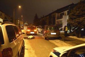 Miesto nehody na Piešťanskej ulici v Košiciach.