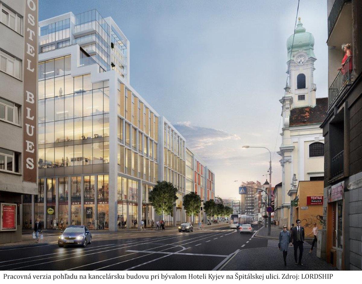 9bacecded Hotel Kyjev chcú zrekonštruovať a vedľa postaviť dve nové budovy ...