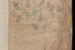 Prvá strana Vonichovho rukopisu.