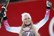Lindsey Vonnová sa opäť tešila z víťazstva.