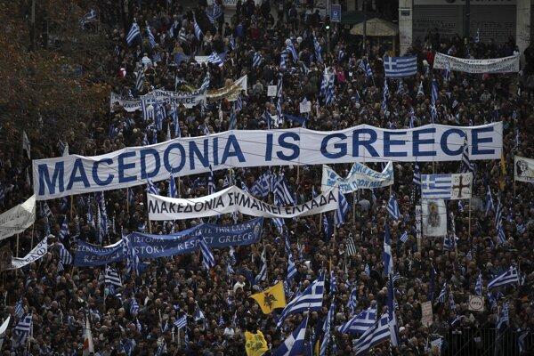 Macedónsko je Grécko, odkazovali demonštranti v Aténach.