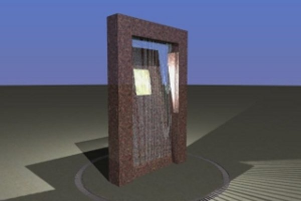 Architektonický návrh fontány.