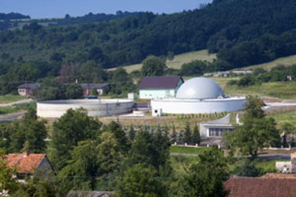Bioplynová stanica v Ladzanoch.