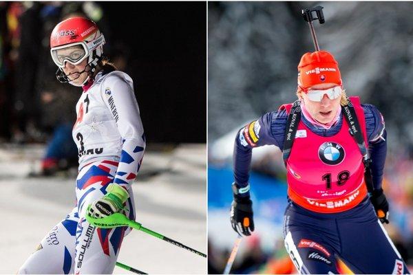 Najväčšie slovenské medailové nádeje - Petra Vlhová (vľavo) a Anastasia Kuzminová.
