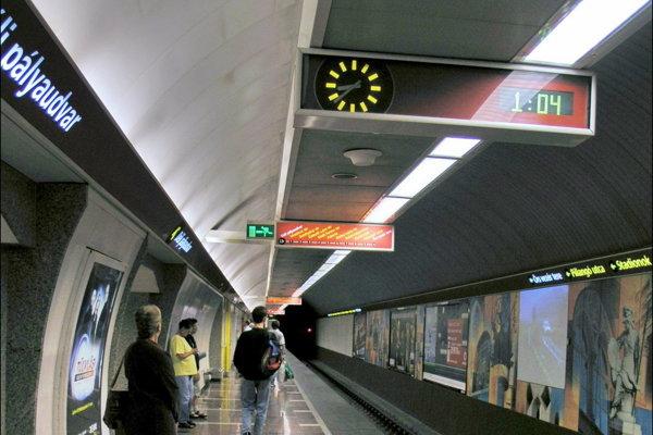 Metro v Budapešti.