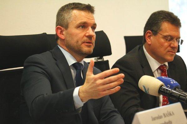 Peter Pellegrini na tlačovej konferencii.