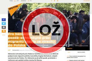 Správy o nemeckej aktivistke, ktorá pred utečencami uteká do Poľska, sú hoax.