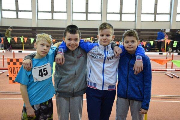 Najmladší atléti AK Danica v Banskej Bystrici