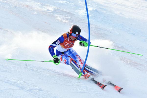 Petre Vlhovej slalom príliš nevyšiel.