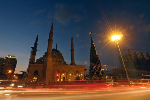 Bejrút v Libanone.