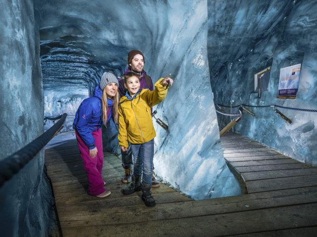 Ľadová jaskyňa v Stubai