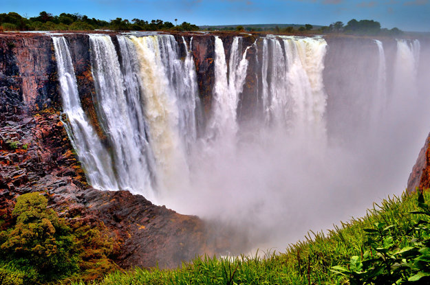 Viktóriine vodopády v Zimbabwe.
