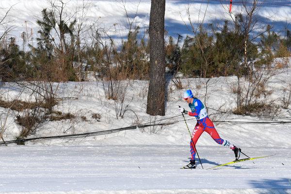 Slovenská reprezentantka Alena Procházková počas pretekov v behu na lyžiach žien na 30 km klasickou technikou na ZOH 2018.