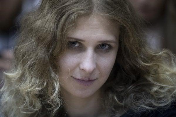 Jedna zo zadržaných Marija Aľochinová.