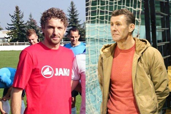 Miloš Lipovský (vľavo) sa stal novým trénerom Veľkého Zálužia. Juraj Vavrovič sa podujal zachrániť Branč.