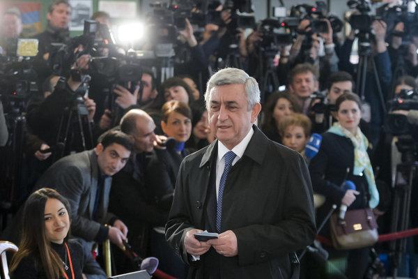 Arménsky prezident Serž Sarkisjan.