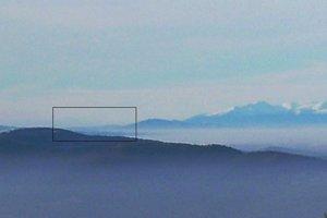 Detail na Chočské vrchy z Kojšovky (vzdialené 120 km).