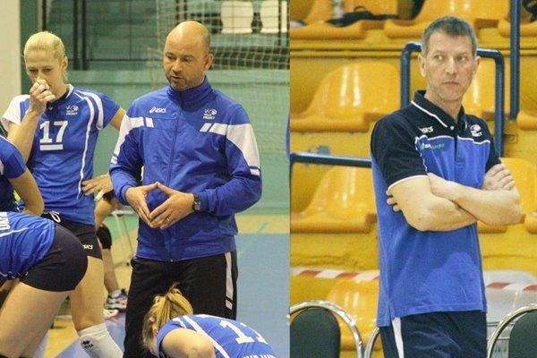 Ladislav Popeláš (vľavo) pri ženách UKF končí, vracia sa bývalý tréner Ľuboš Červeň.