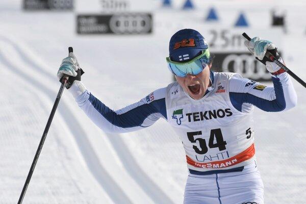 Fínska bežkyňa na lyžiach Krista Pärmäkoskiová vyhrala preteky Svetového pohára na 10 km klasicky.