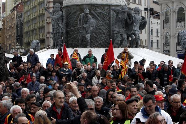 Protesty v Skopje.